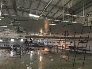 lắp đặt quạt làm mát nhà xưởng công nghiệp